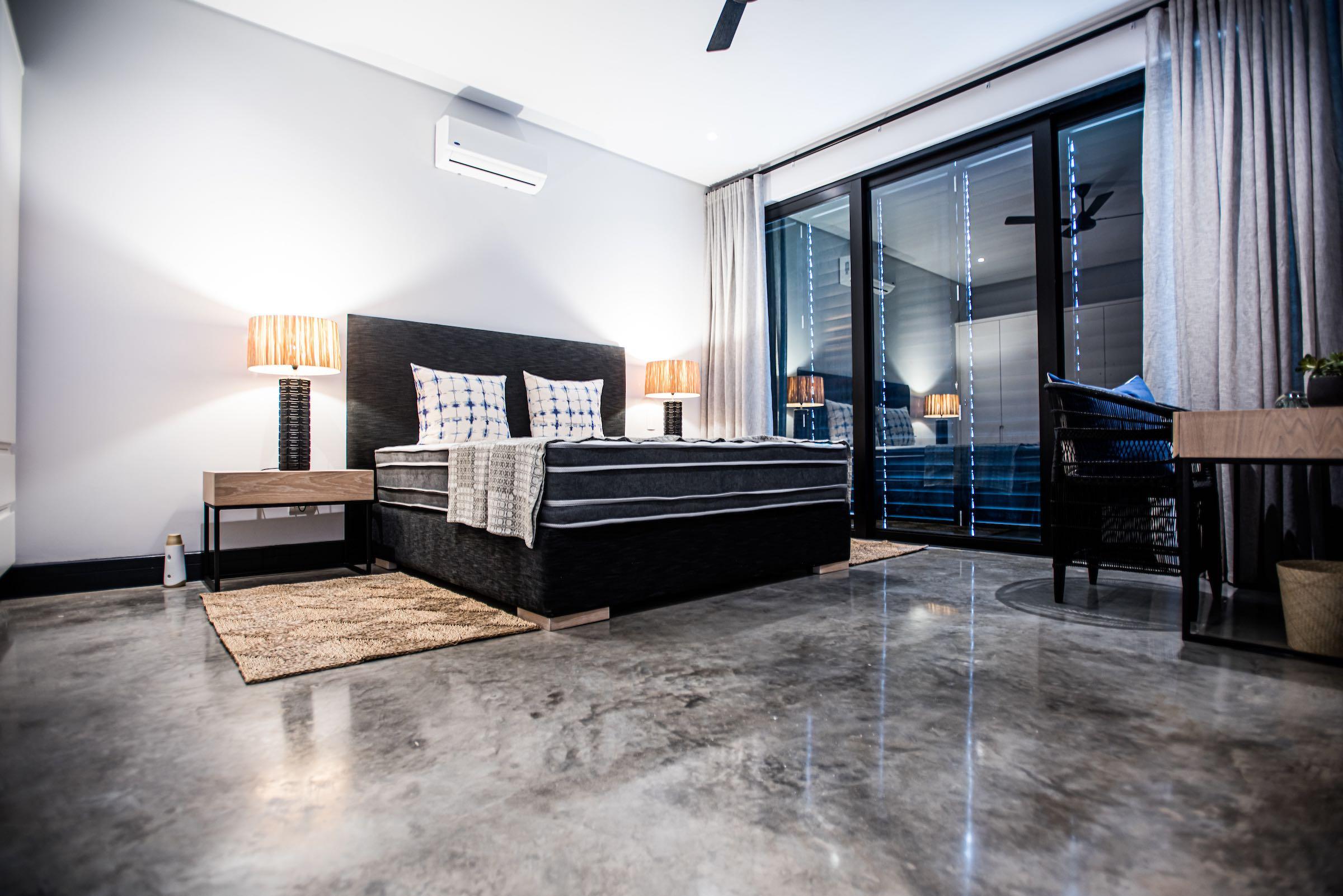 high gloss chemical polish concrete floor