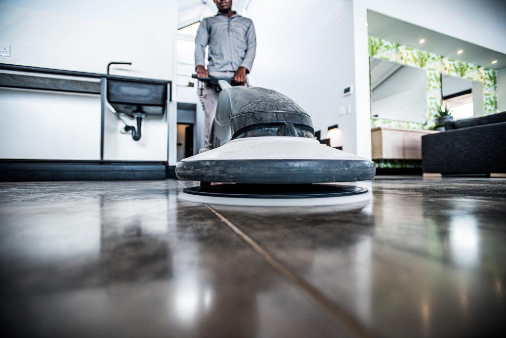 high gloss chemical polish floors